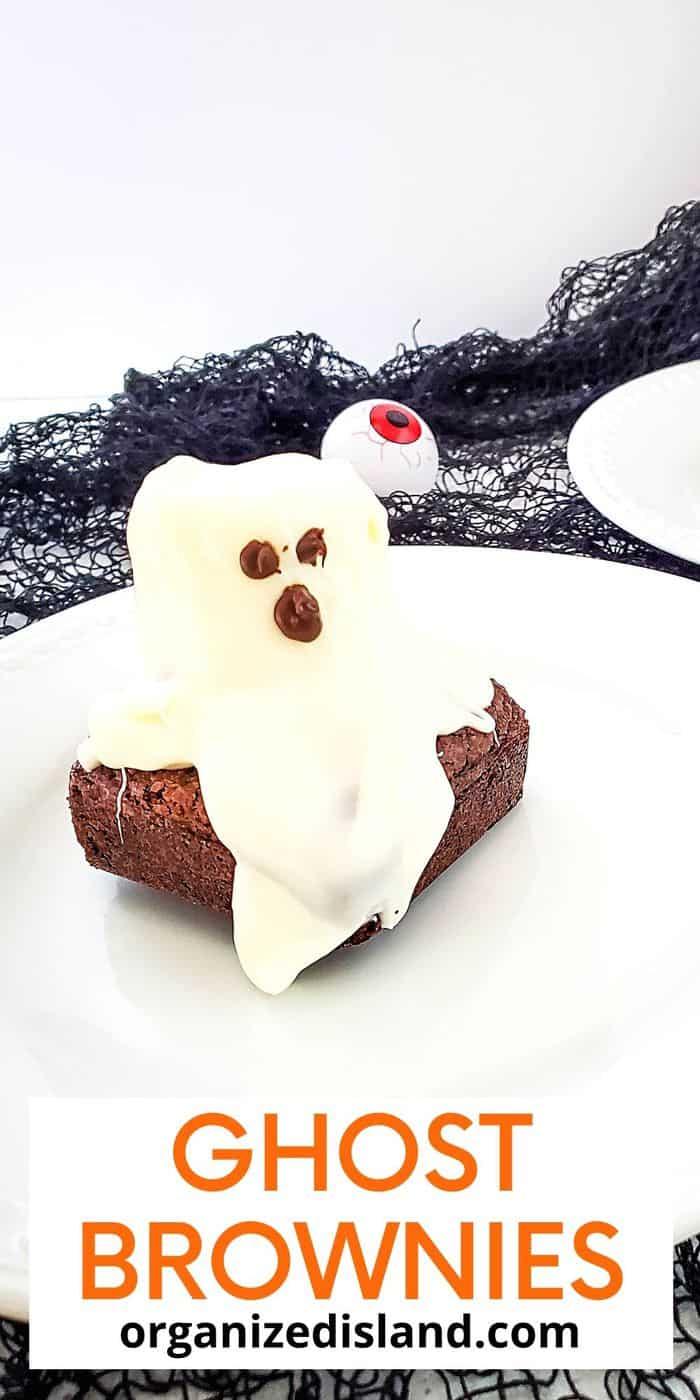 ghost brownies for halloween