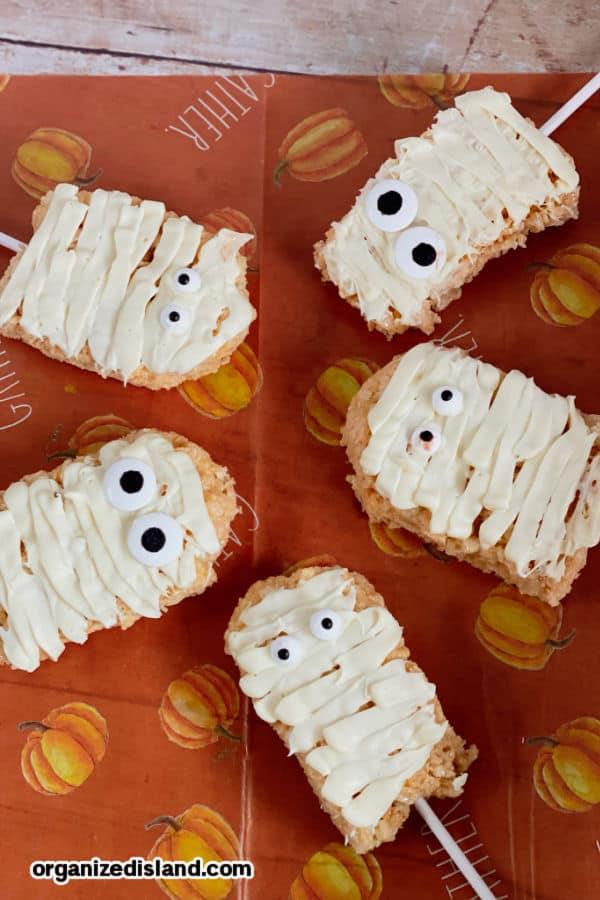 mummy halloween treats