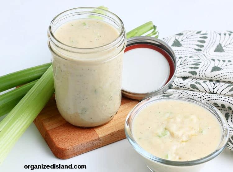 Homemade Cream of Celery Soup with fresh celery
