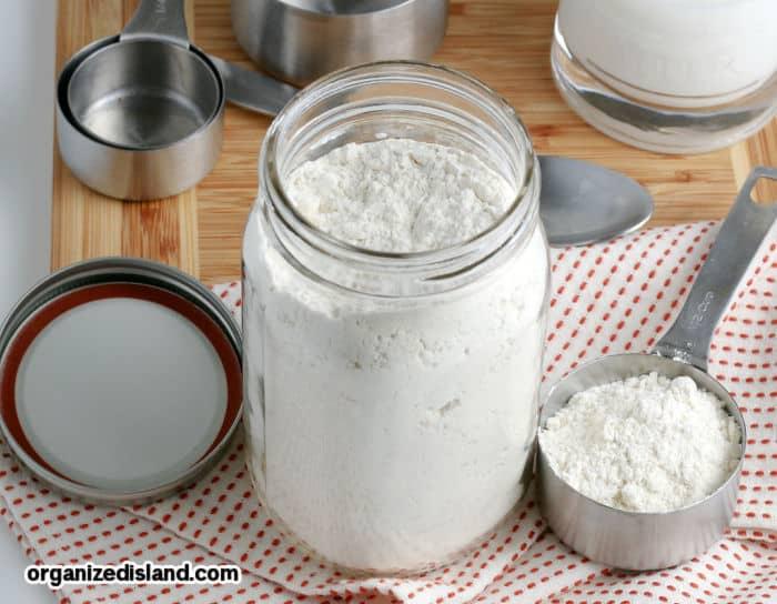 baking mix in a mason jar