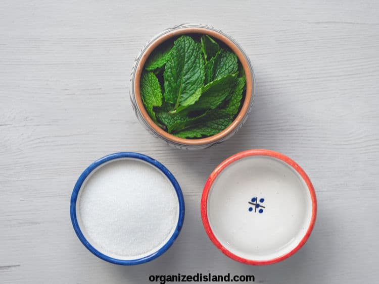 Mint Syrup Ingredients