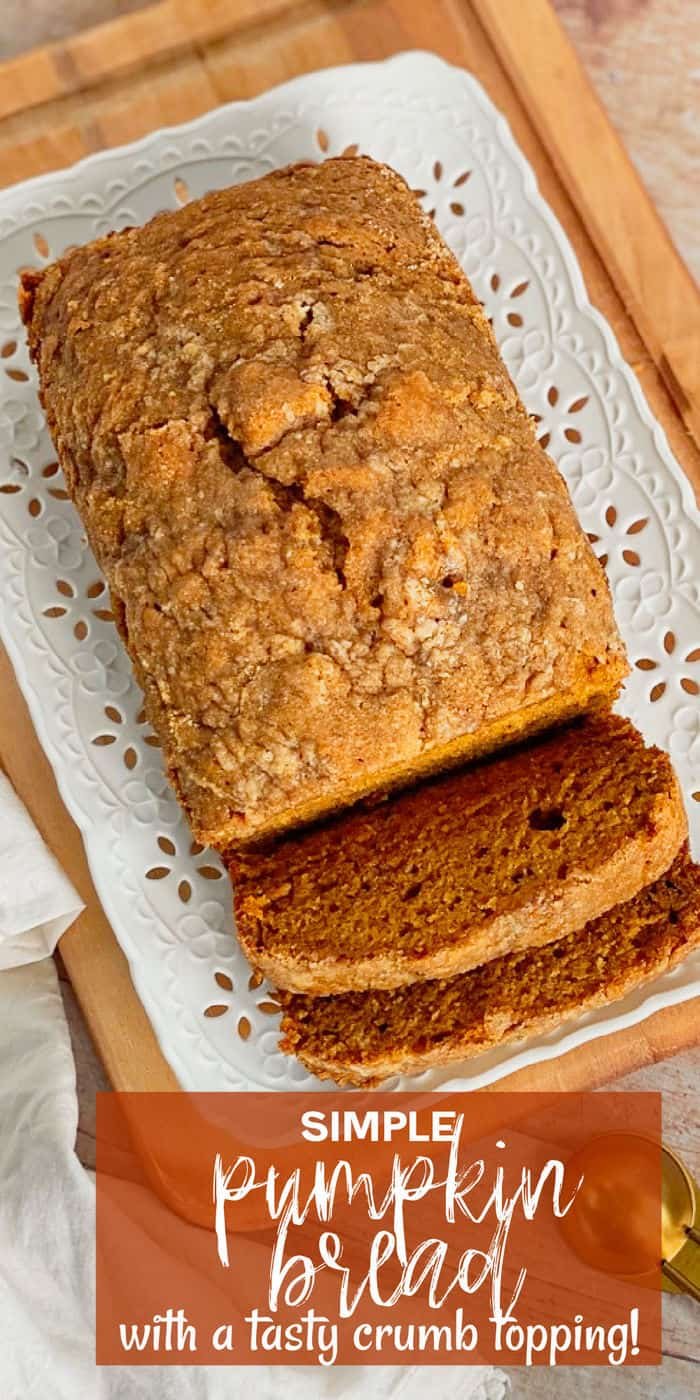 Simple Pumpkin Bread on a plate