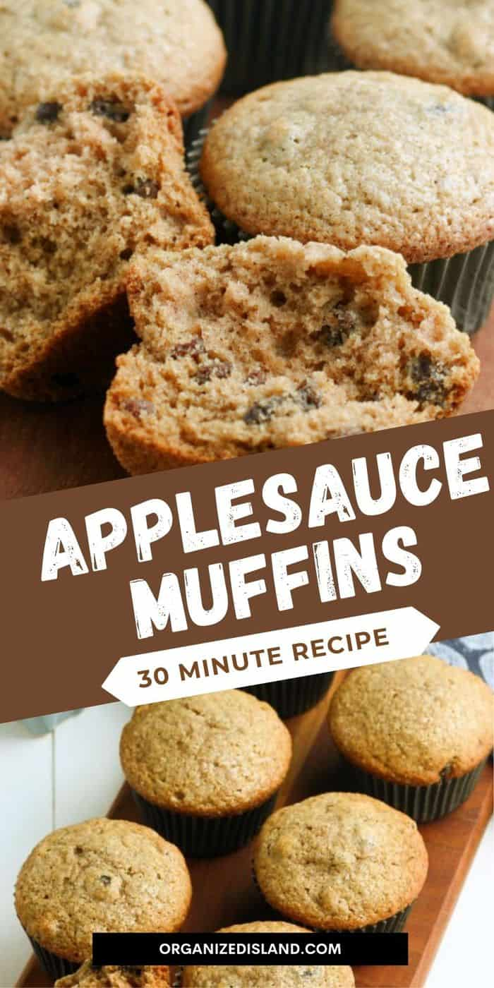 bakery style applesauce muffins