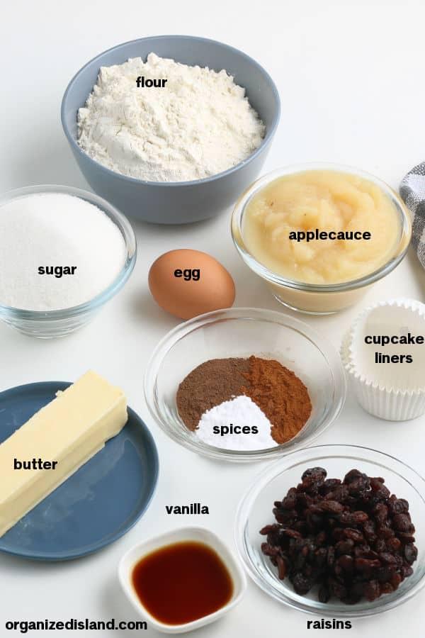 Easy Applesauce Muffins Ingredients