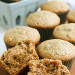 Easy Applesauce Muffins Recipe Card
