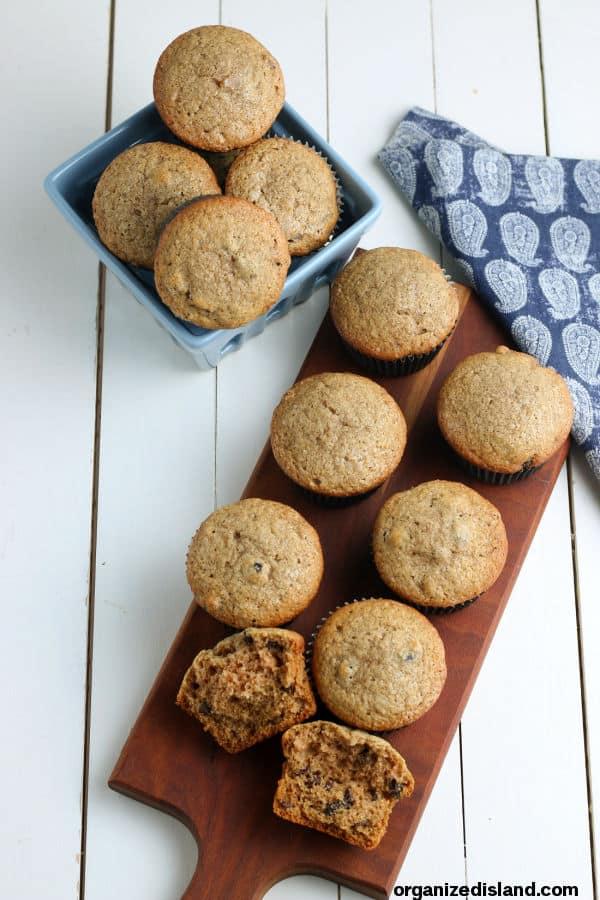 applesauce muffins on board
