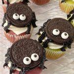 Spider cupcakes Halloween Treat recipe card