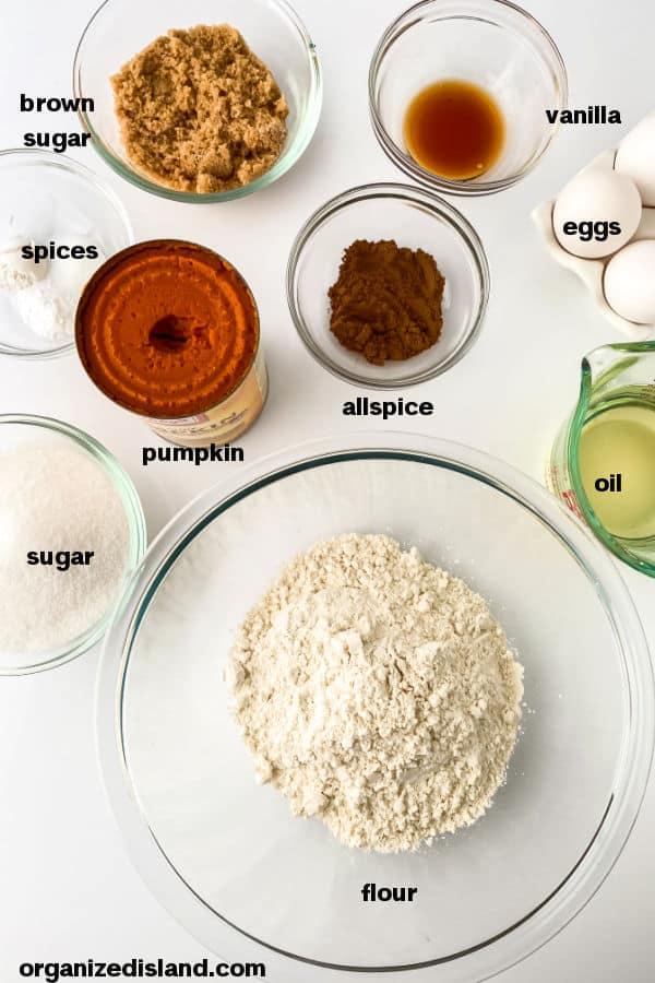 Starbucks Copycat Pumpkin Bread Ingredients