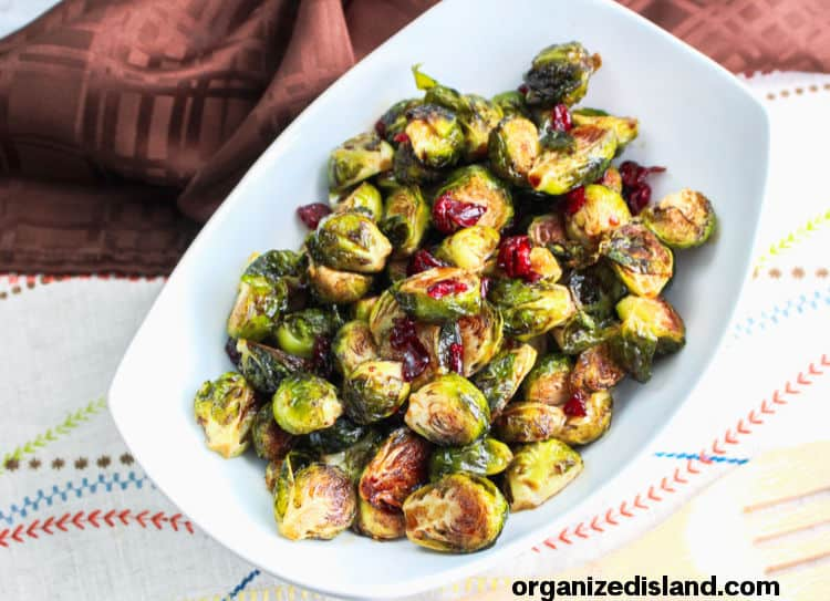 Brussel Sprouts with Cranberries Recipe social