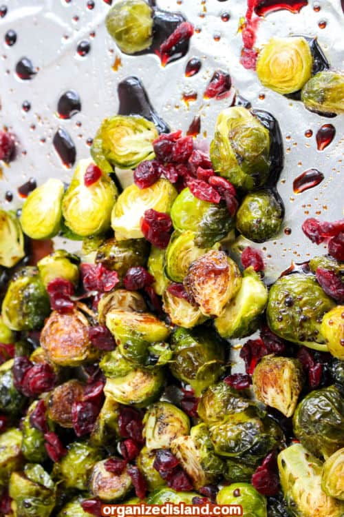 How To Make Brussels Sprouts with Cranberries side dish