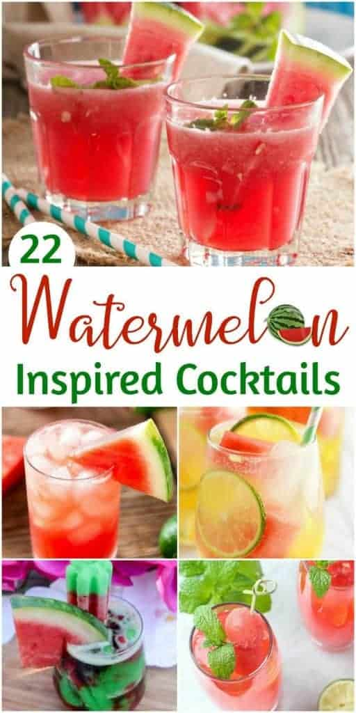 Watermelon Inspired Cocktail Recipes