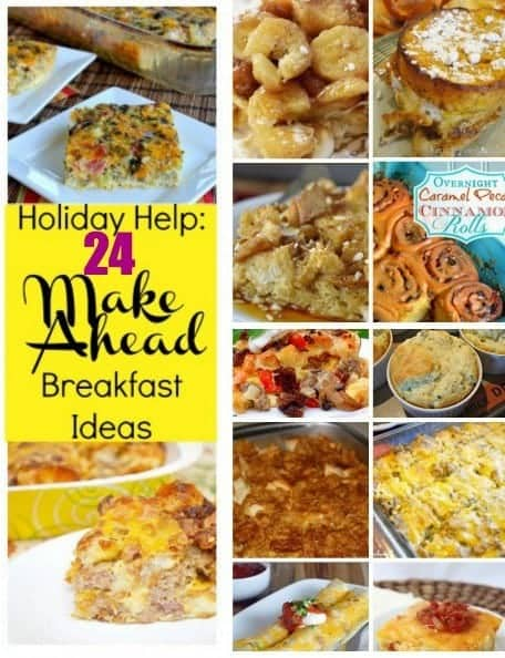 24 Make Ahead Breakfast Recipes