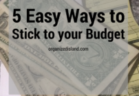 Simple actions to stick to your budget.