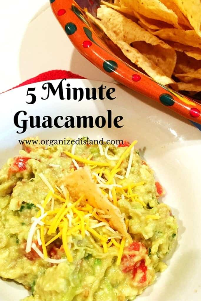 This quick and easy guacamole recipe tastes great as an appetizer or condiment.
