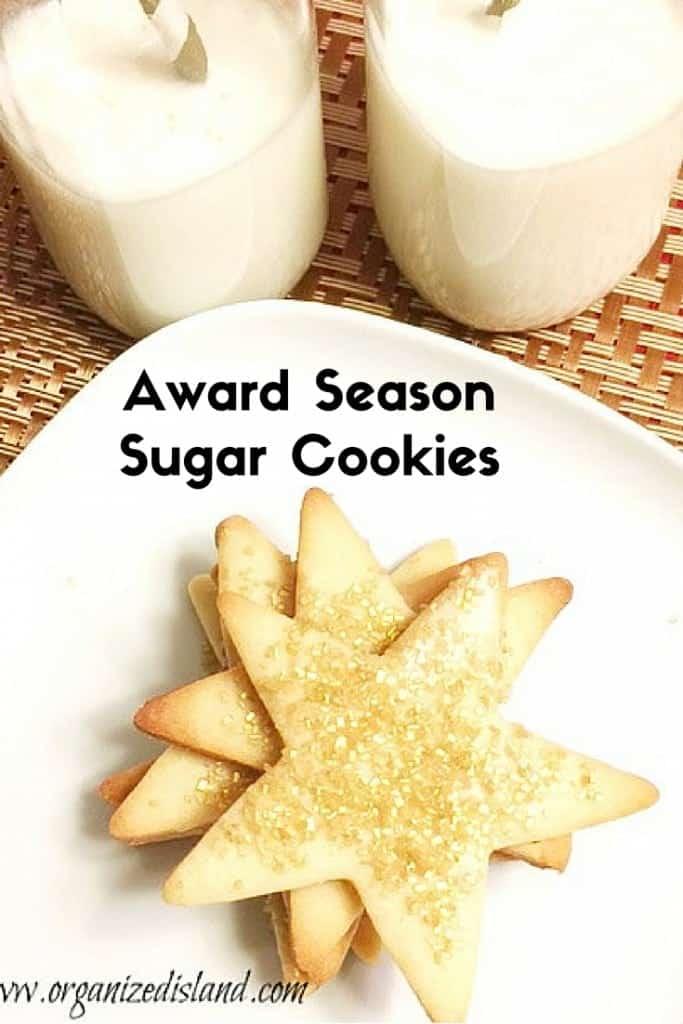 Award Sugar Cookies - Thin and crispy and perfect for award season!