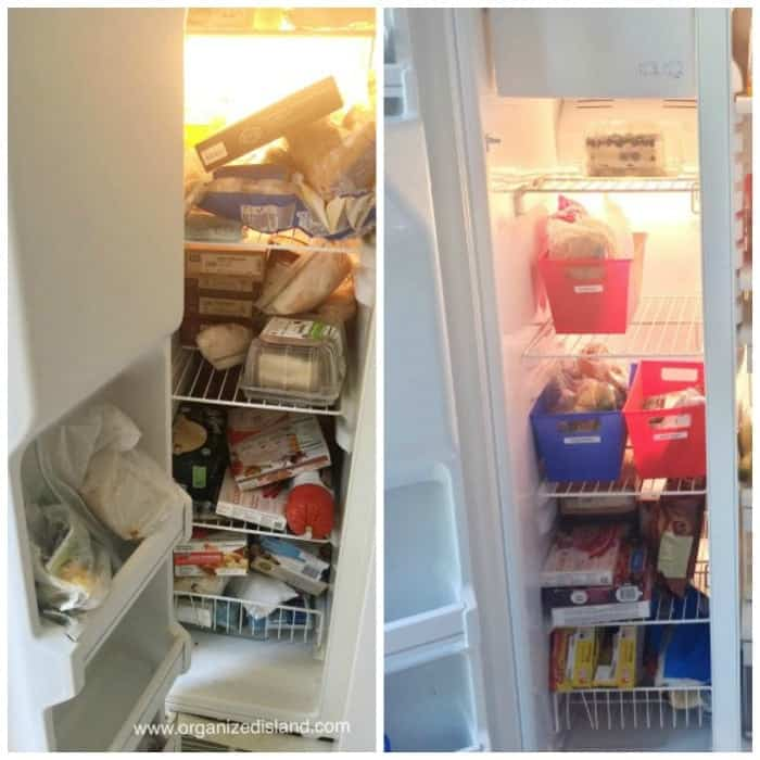 Organizing the freezer and refrigerator is so much easier by printing labels from your smartphone!