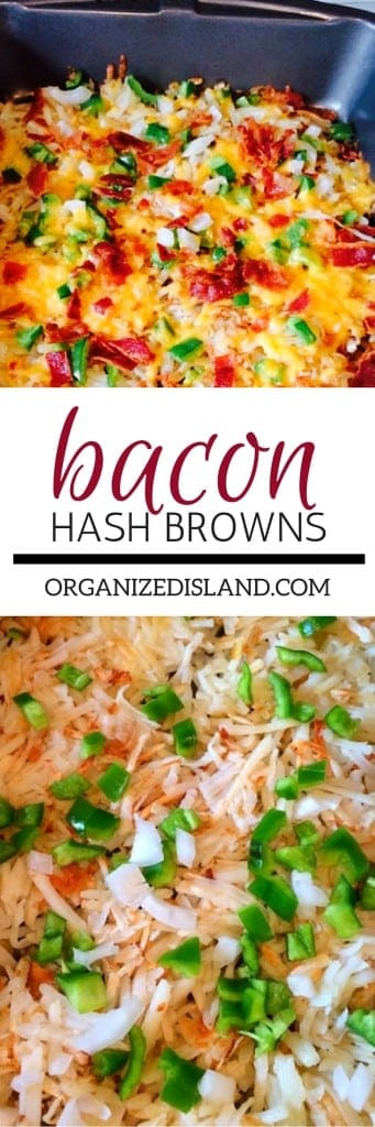 These Bacon Hash Browns are a favorite recipe and will be a hit at  your next brunch or breakfast. Easy to make and delicious!