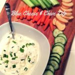 This tasty Blue Cheese and Chive dip recipe is perfect as an appetizer or snack! Great as a vegetable dip!