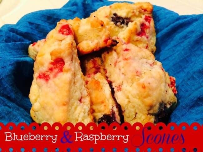 Blueberry and Raspberry Scones