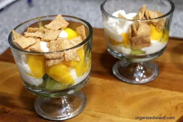 Kiiwi Mango Yogurt Parfaits