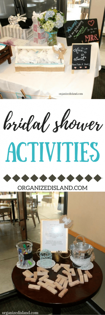 Looking for fun bridal shower activities that are not boring? Guests at our shower loved these!