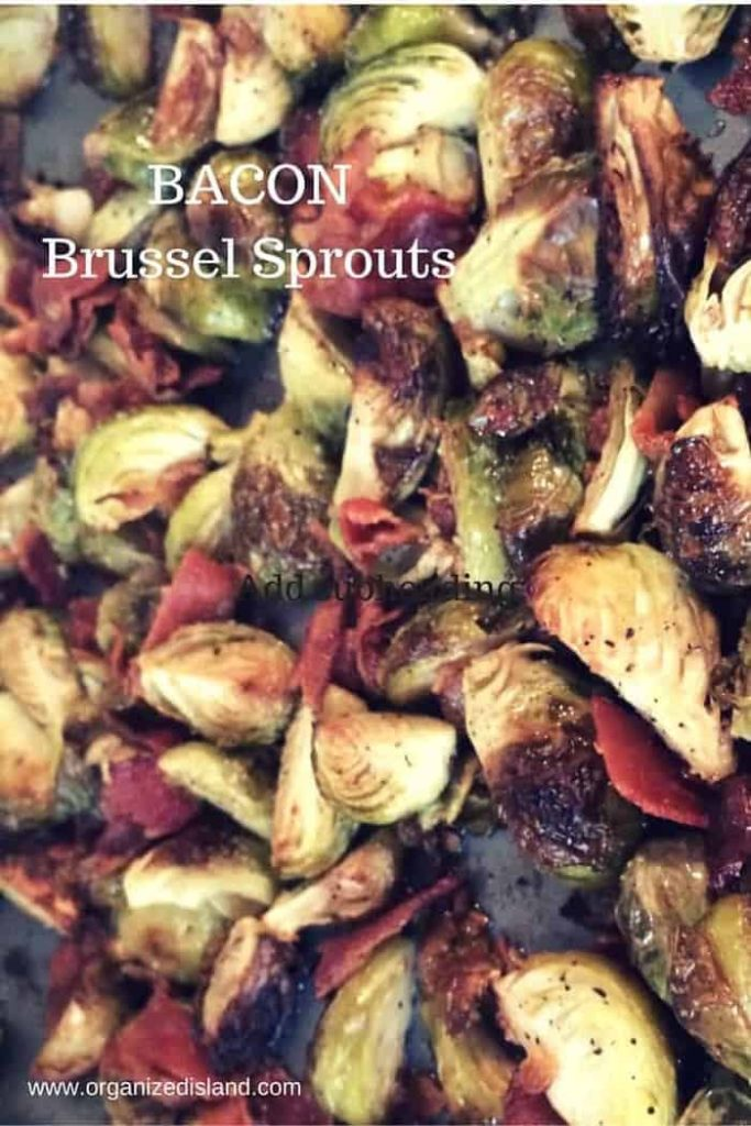Brussel sprouts with bacon in oven