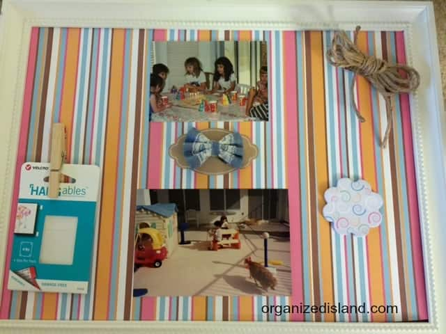 Decorating a bulletin board is easy with a little help from Velcro!