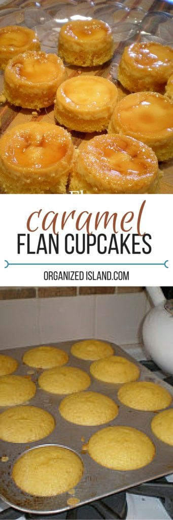 Caramel Flan Cupcakes - little custard cakes drizzled in a caramel sauce.
