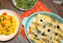 Easy Chicken Verde enchiladas recipe.