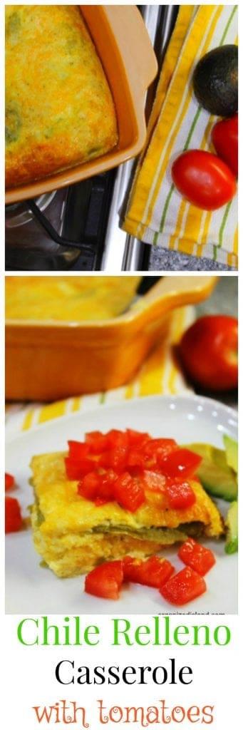 Chili Relleno Casserole with Tomatoes