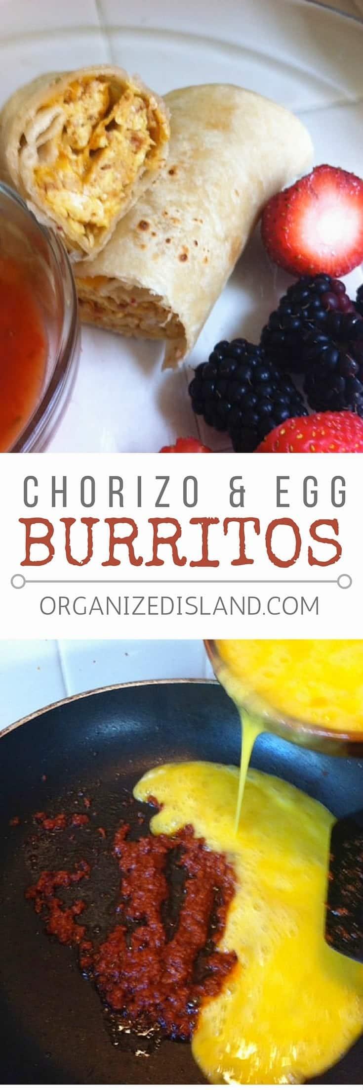 Chorizo And Egg White Breakfast Burrito Recipe — Dishmaps