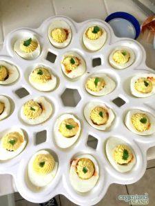Looking to jazz up your deviled eggs? This Chorizo Deviled egg recipe is easy and tasty!