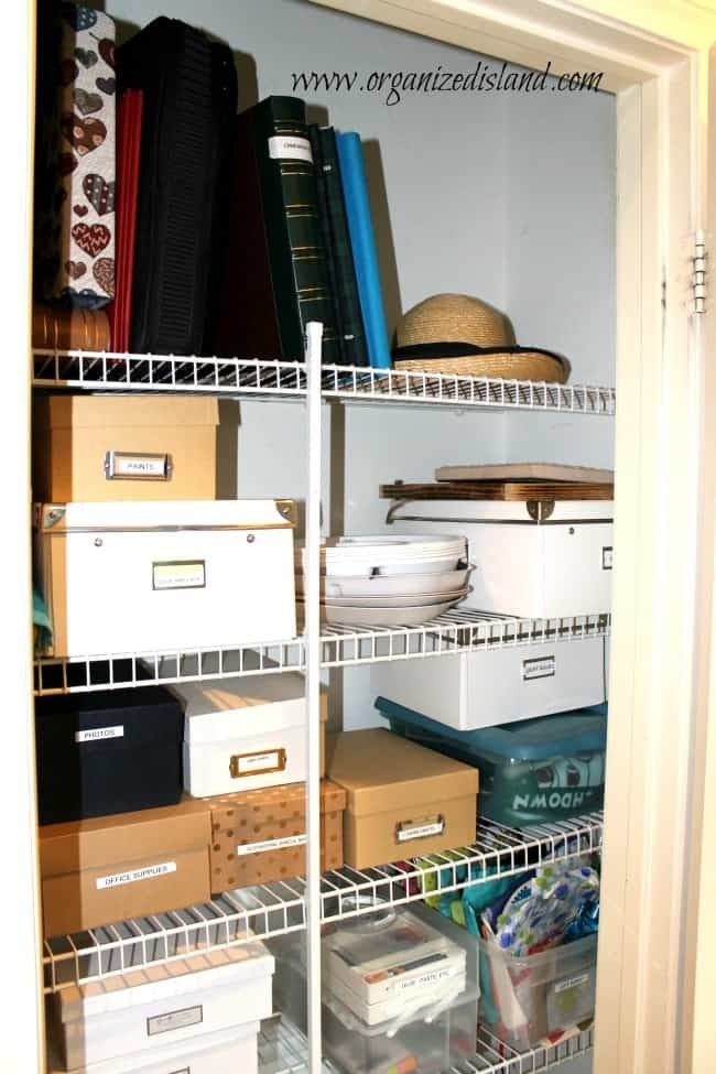organizing the hall closet