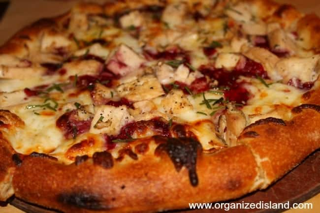 A favorite at Stacked - the Cran Brie Pizza!