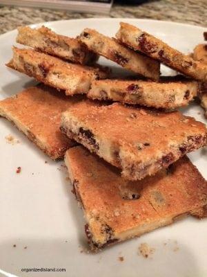 Crispy Cranberry Pecan Cookie Bars
