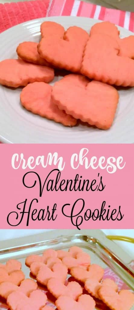 Cream Cheese Valentine's Cookies