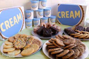 cream Ice cream shop has the best cookies and ice cream combinations