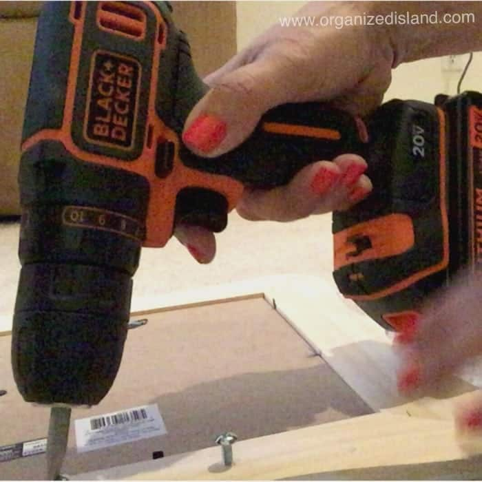 This drill is great for DIY projects - so light and easy to use. Saves time too!