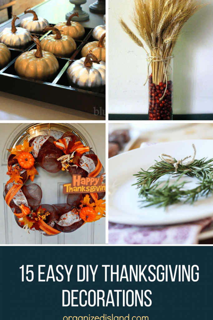 A gathering of lovely DIY Thanksgiving decoration ideas for your home.