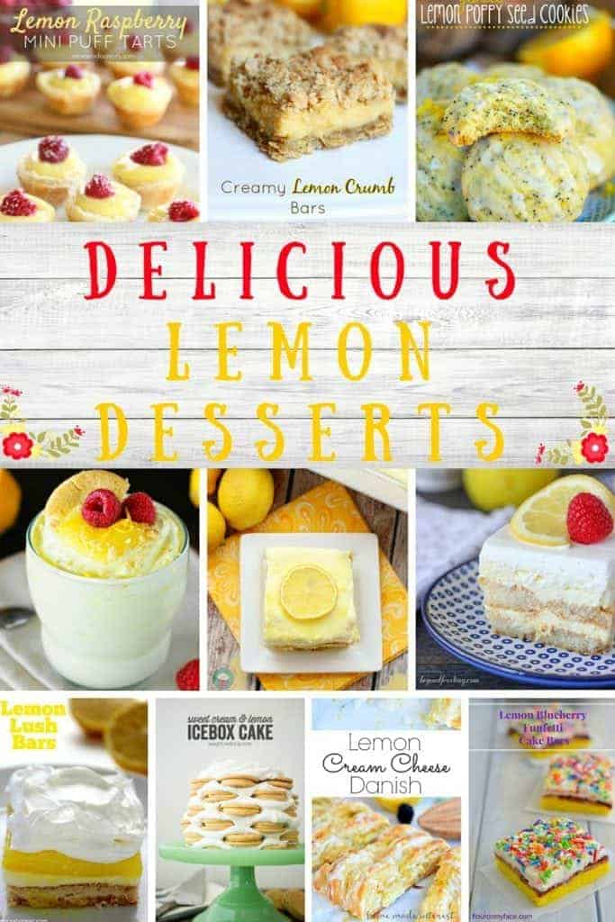 Delicious Lemon Dessert Recipes to bring a smile to the lemon sweets lover!