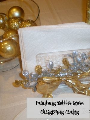 Dollar Store Christmas Decorations – Gold and Silver