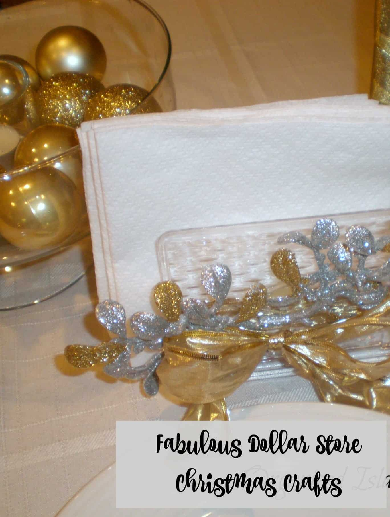 dollar store christmas decorations gold and silver - Dollar Store Christmas Crafts