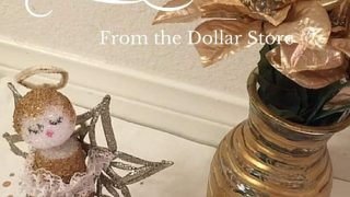 Really easy craft ideas to make your own Christmas Decor from the Dollar Store!