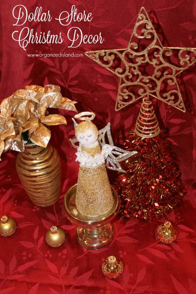 All of these items were made with dollar store supplies! Check out the DIY Christmas decor projects on this site.