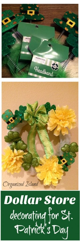Fun and cute St. Patrick decorating ideas using items from the dollar store!