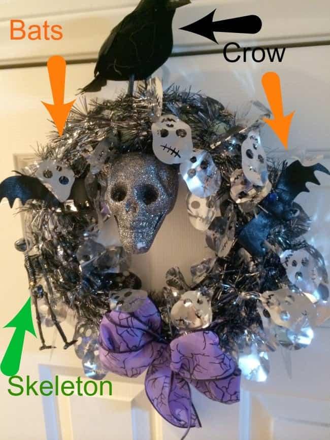 Dollar-Tree-Halloween-Wreath