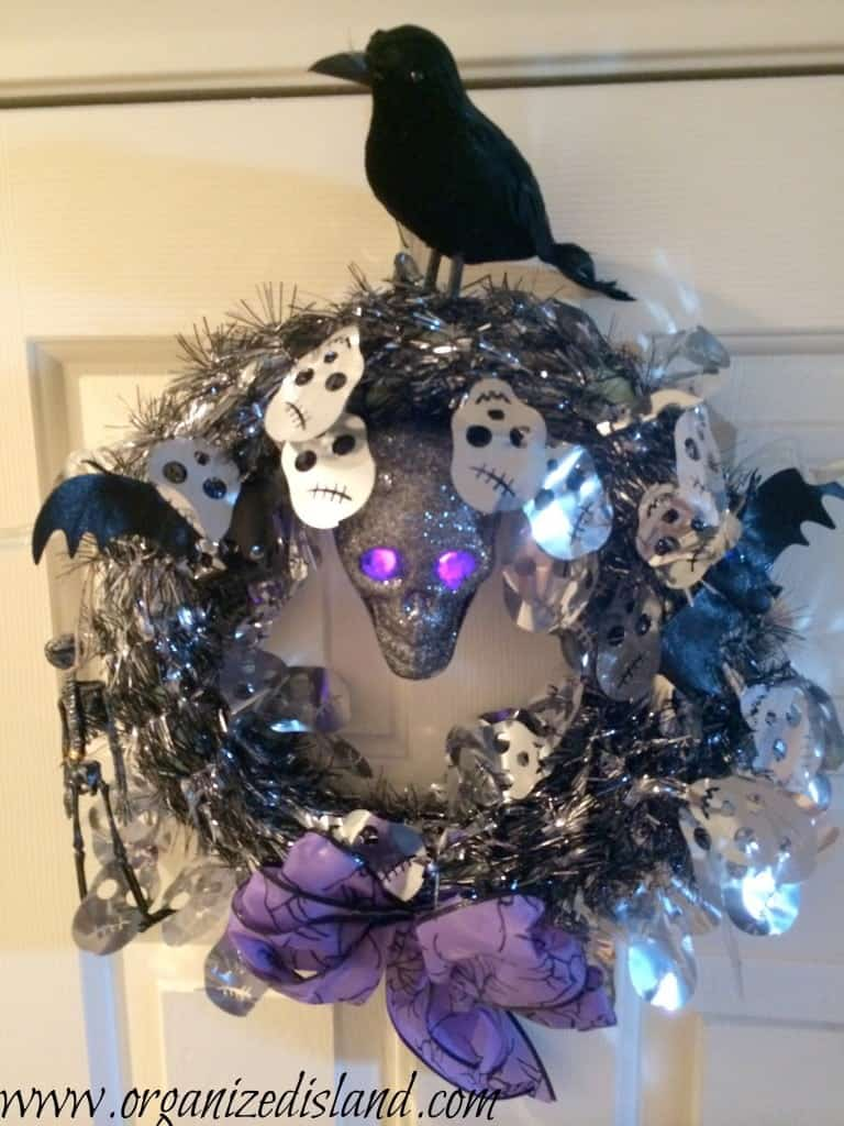Dollar-store-halloween-wreath