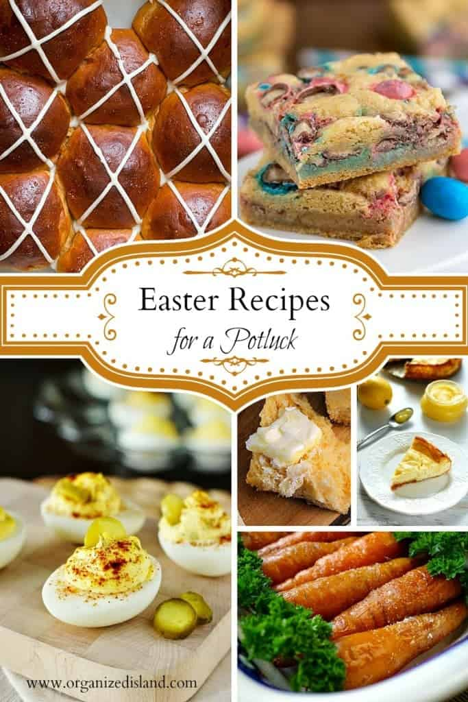 These Easter recipes for a potluck include easily transportable appetizers, side dishes and desserts! Also great for Easter at home too!