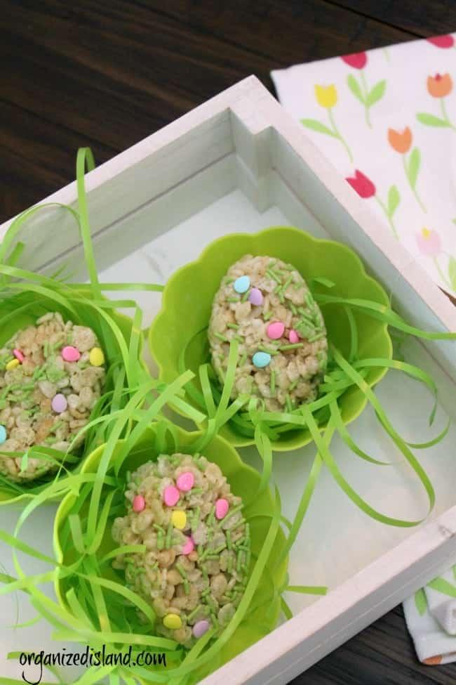 Easter rice krispie treats dessert idea