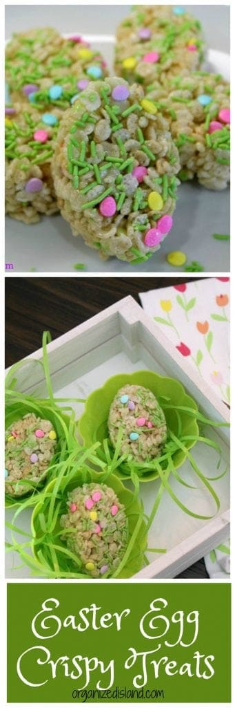 Fun Easter rice krispie treats idea for Easter dinner